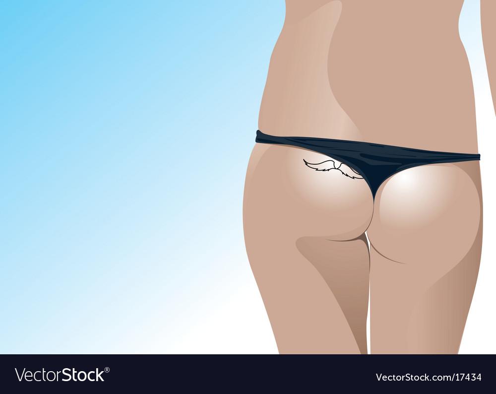 Girl in bikini vector | Price: 3 Credit (USD $3)