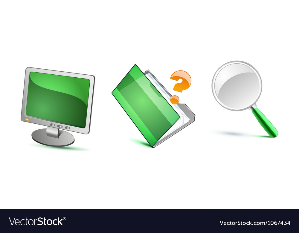 Green isolated icons vector | Price: 1 Credit (USD $1)