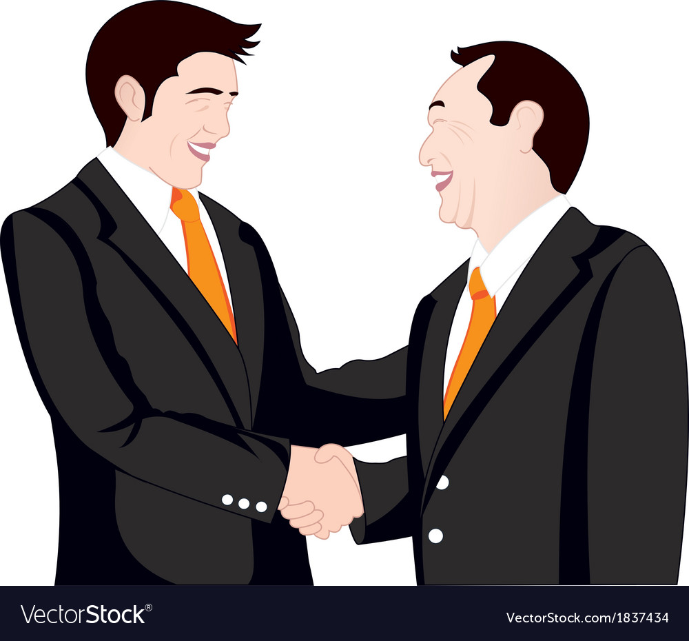 Hand shake business on white background vector | Price: 1 Credit (USD $1)