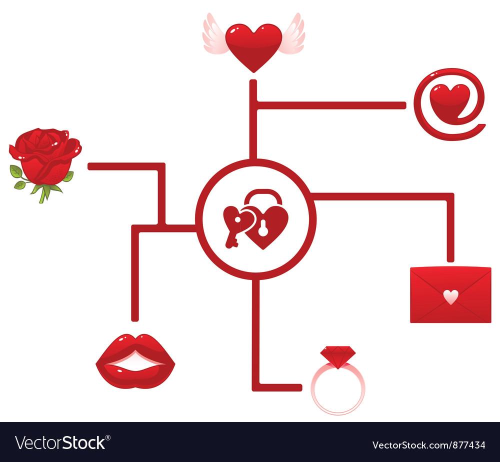 Love network vector | Price: 1 Credit (USD $1)