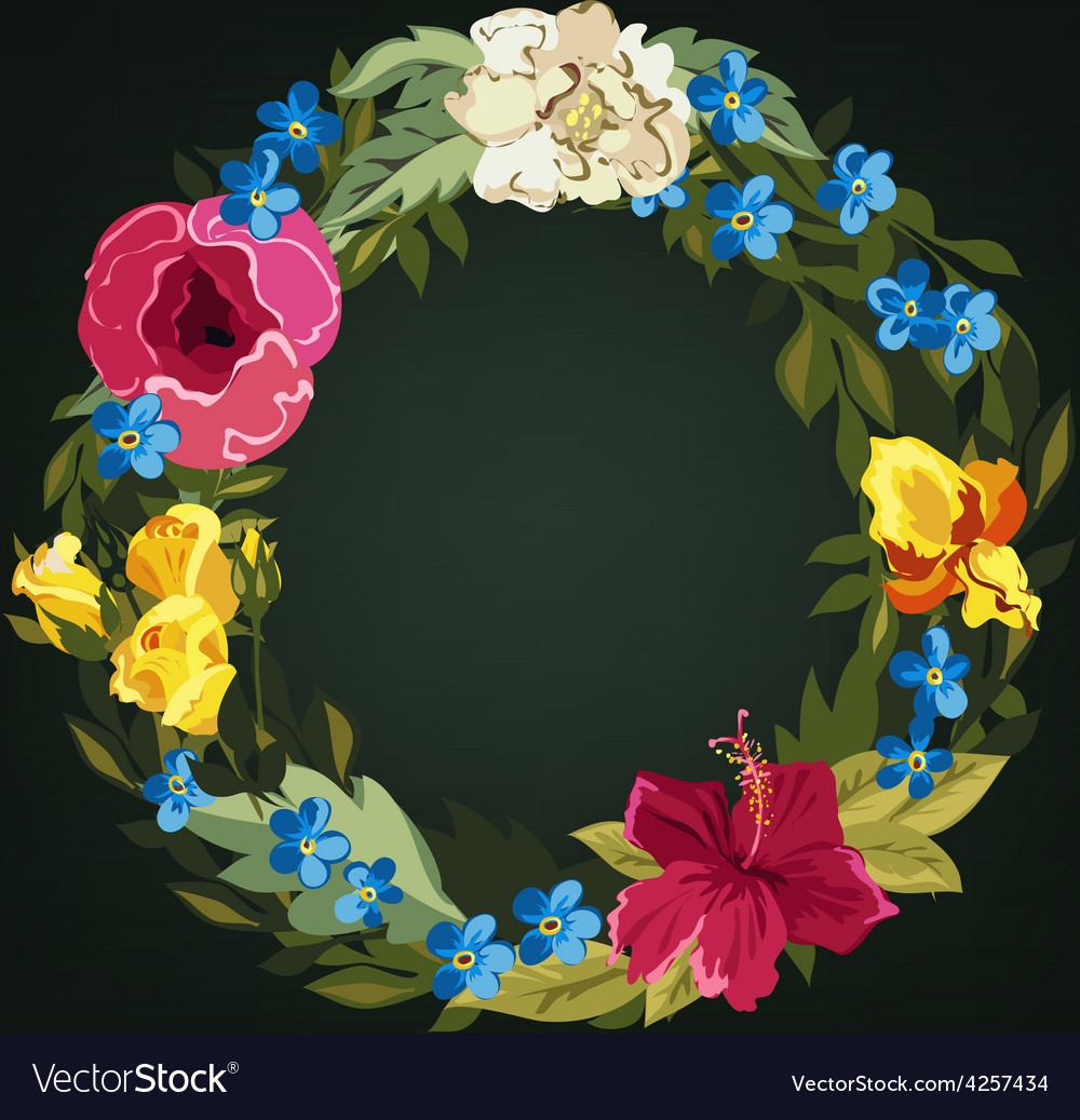 O letter flower capital alphabet colorful font vector | Price: 1 Credit (USD $1)