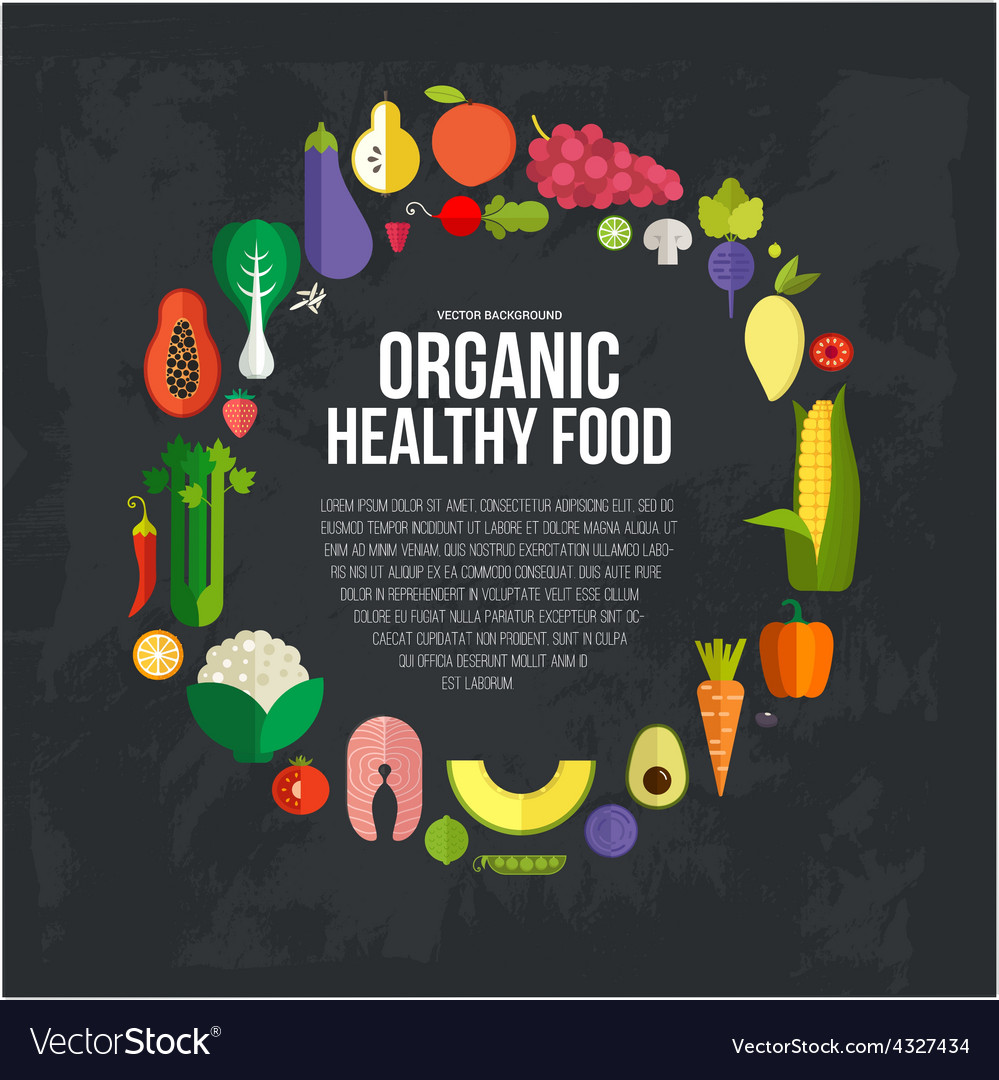 Organic food concept vector | Price: 1 Credit (USD $1)