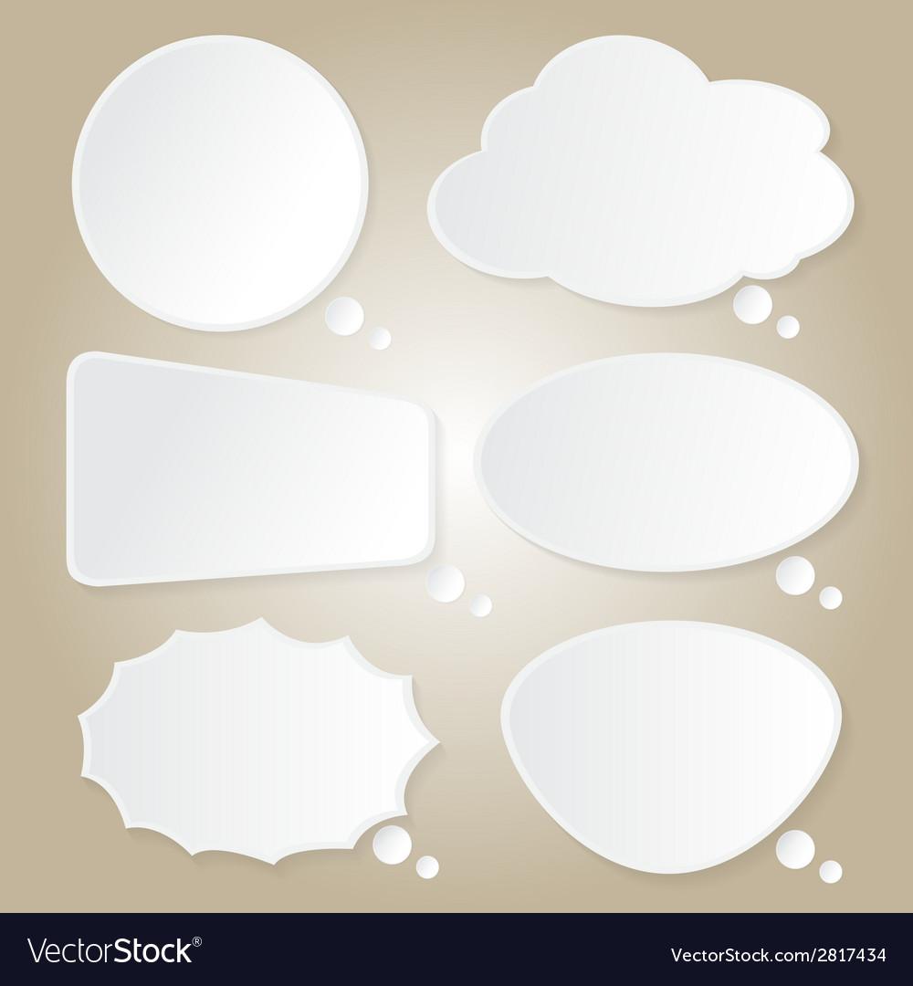 Paper bubbles speech idea on background vector | Price: 1 Credit (USD $1)