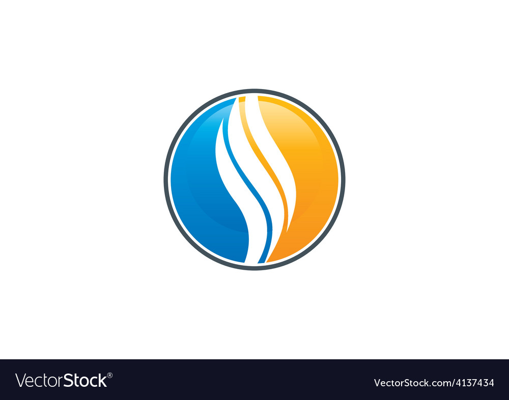 Round swirl abstract icon logo vector   Price: 1 Credit (USD $1)