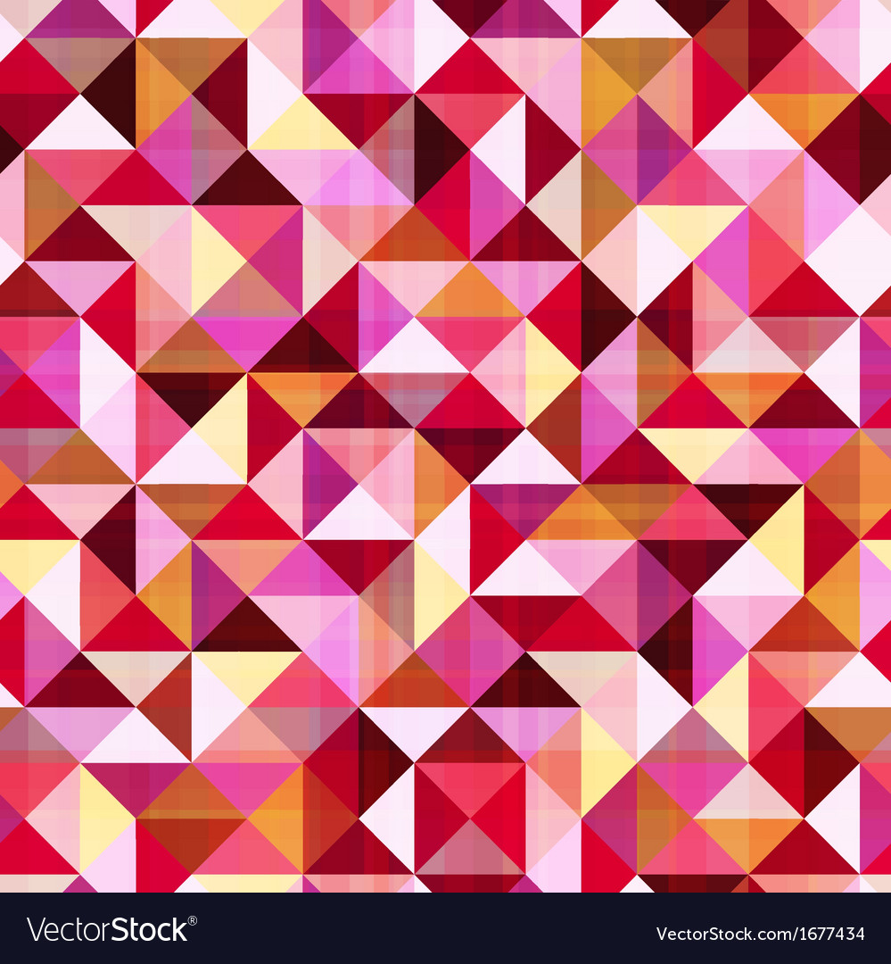 Seamless geometric triangle red pattern vector | Price: 1 Credit (USD $1)