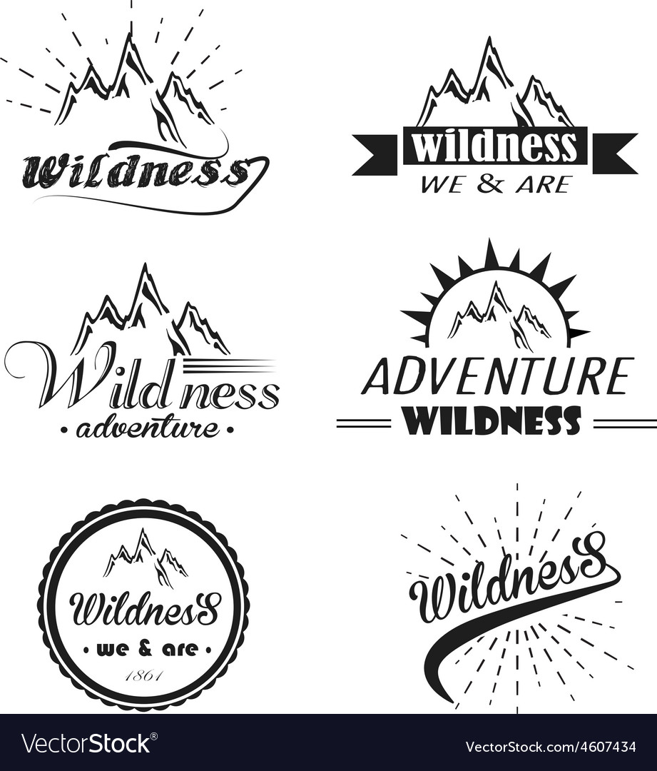 Set of wilderness and nature exploration vector | Price: 1 Credit (USD $1)