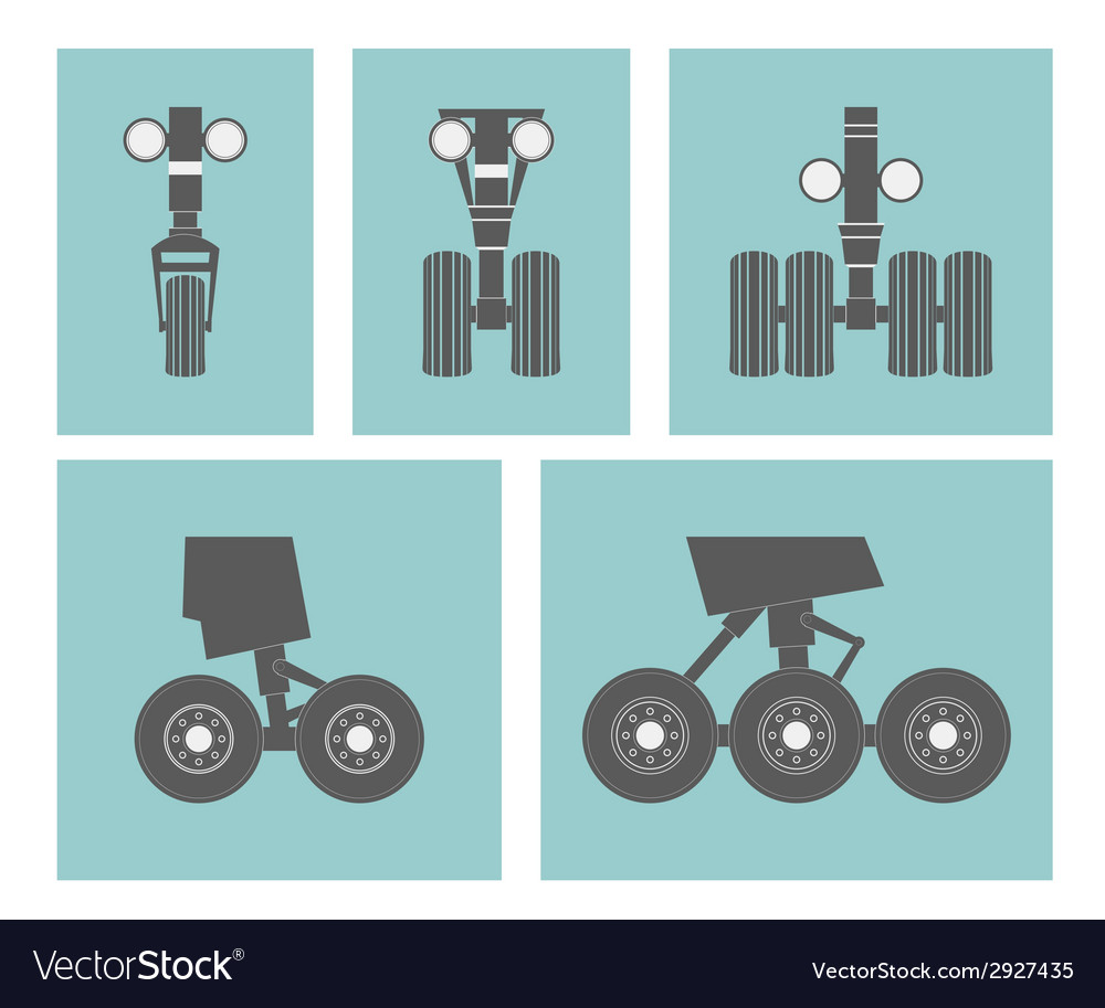 Airplane elements landing gears vector | Price: 1 Credit (USD $1)
