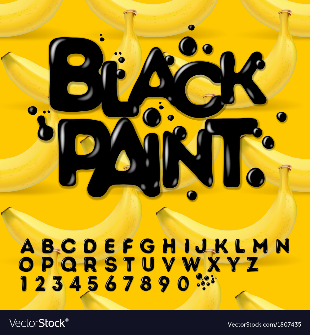 Black oil painted alphabet vector | Price: 1 Credit (USD $1)