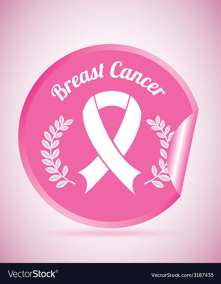Breast cancer design vector | Price: 1 Credit (USD $1)