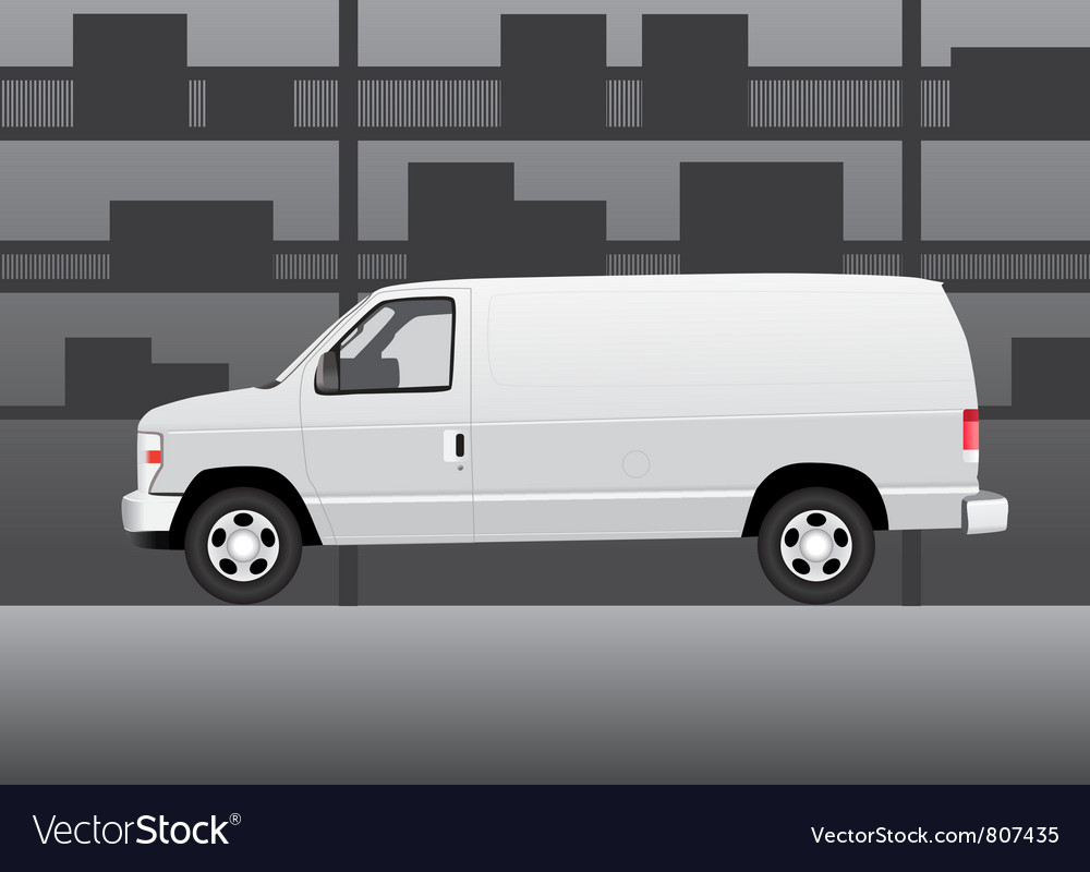 Delivery van vector | Price: 3 Credit (USD $3)