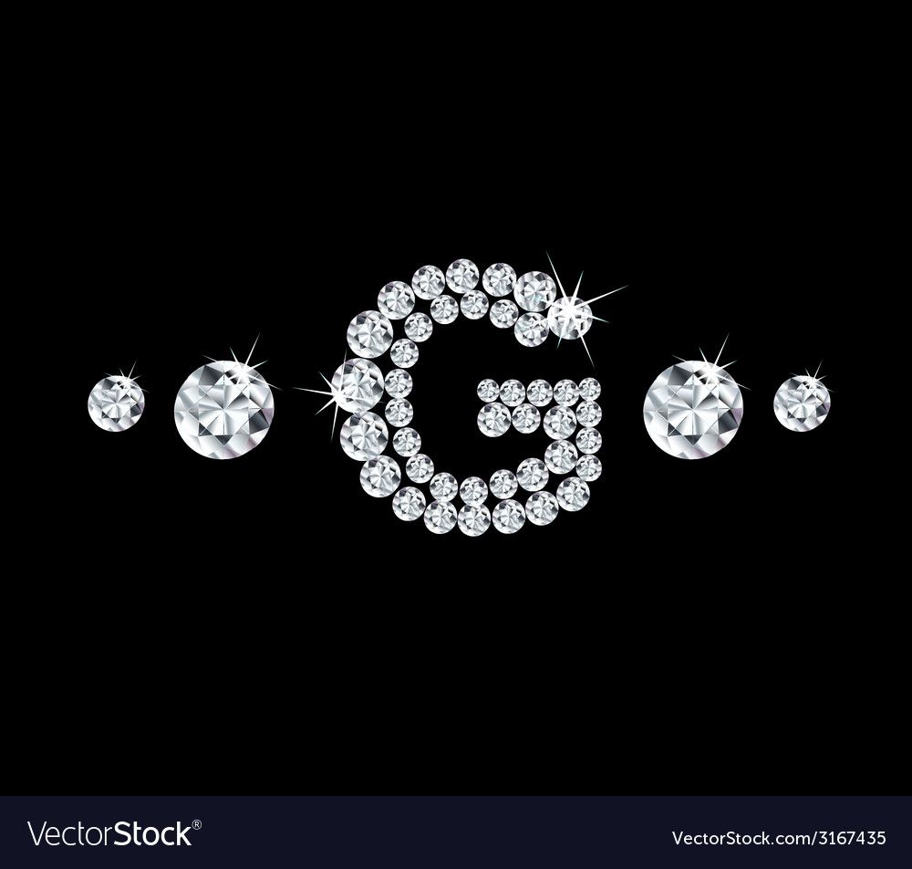 Diamond alphabetic letter g vector | Price: 1 Credit (USD $1)