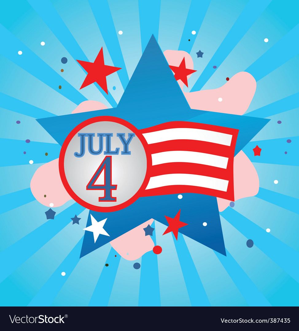 July 4 celebration vector | Price: 1 Credit (USD $1)