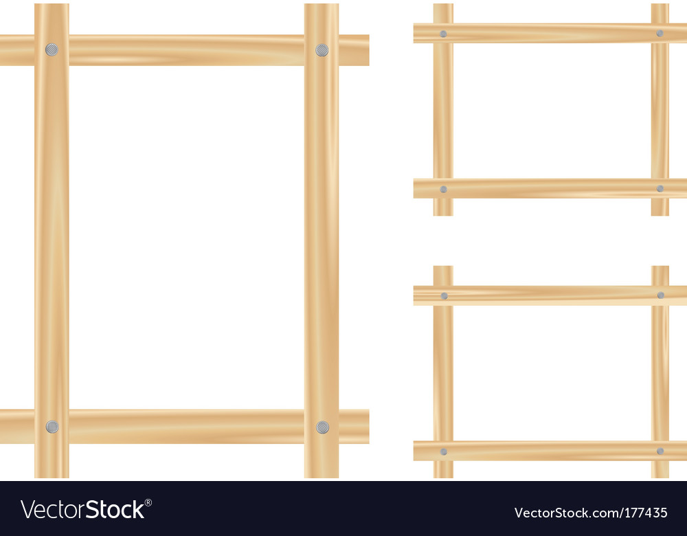 Light wooden frame vector | Price: 1 Credit (USD $1)