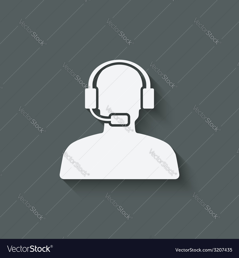Man call center support symbol vector | Price: 1 Credit (USD $1)
