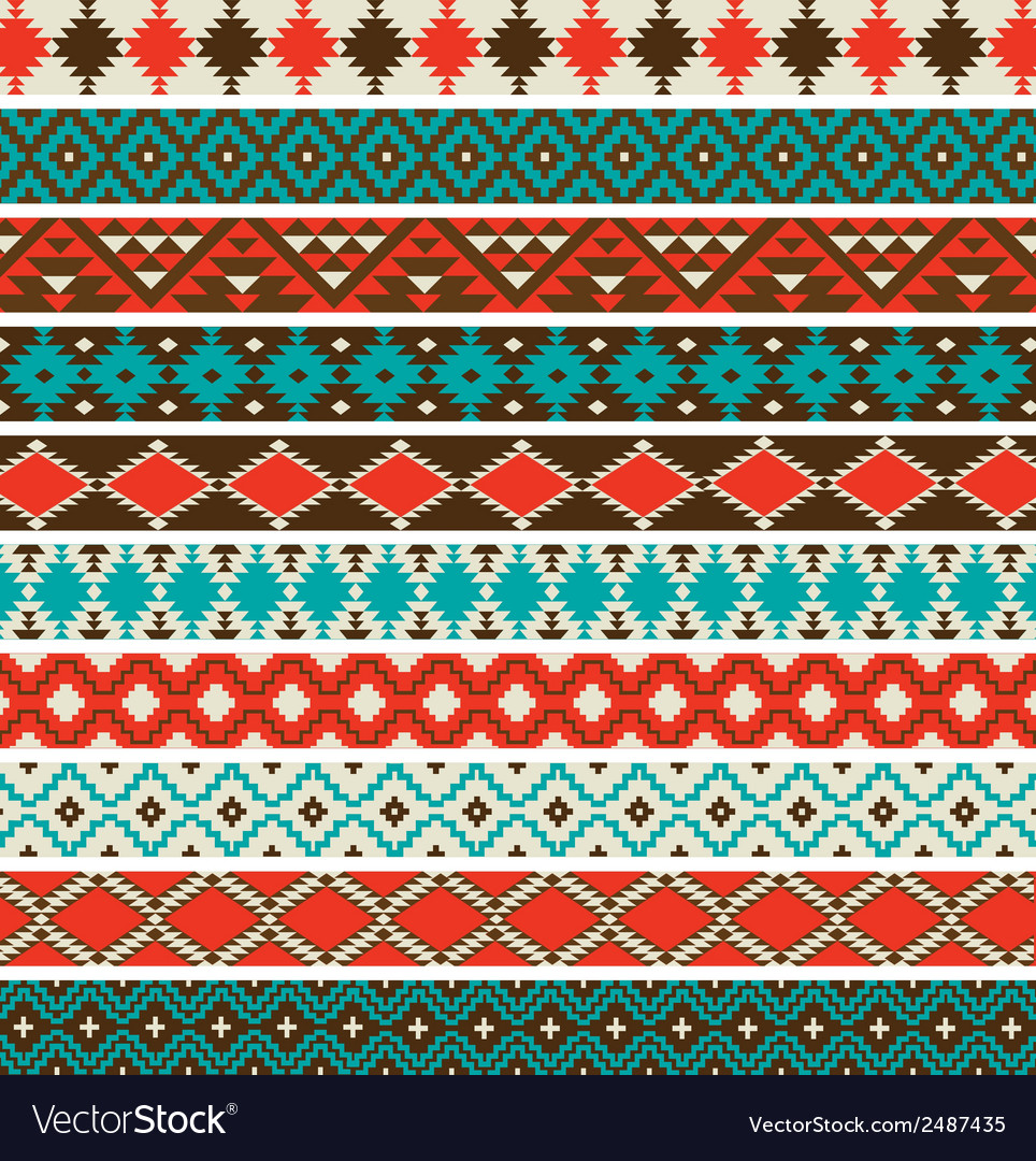 Native american border patterns vector | Price: 1 Credit (USD $1)