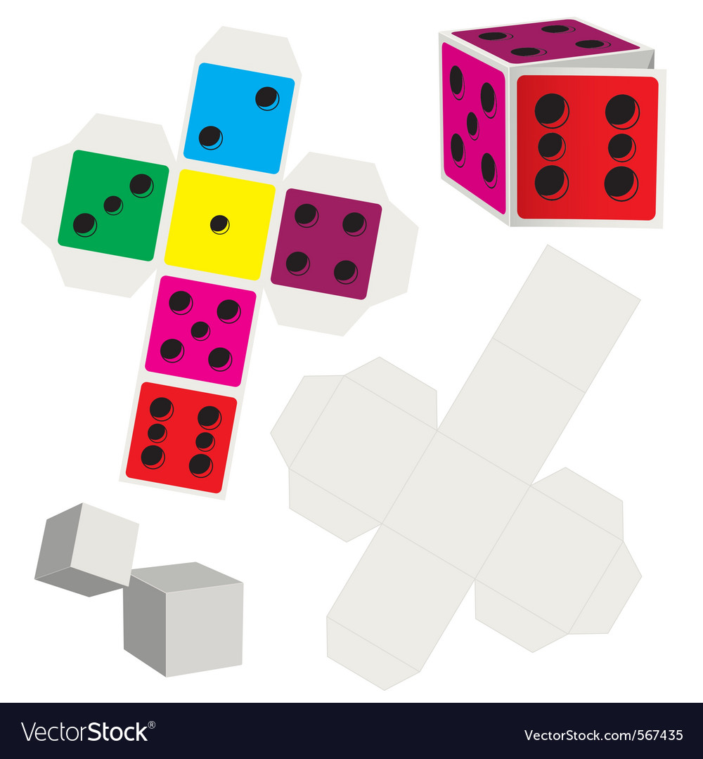 Paper dice vector | Price: 1 Credit (USD $1)