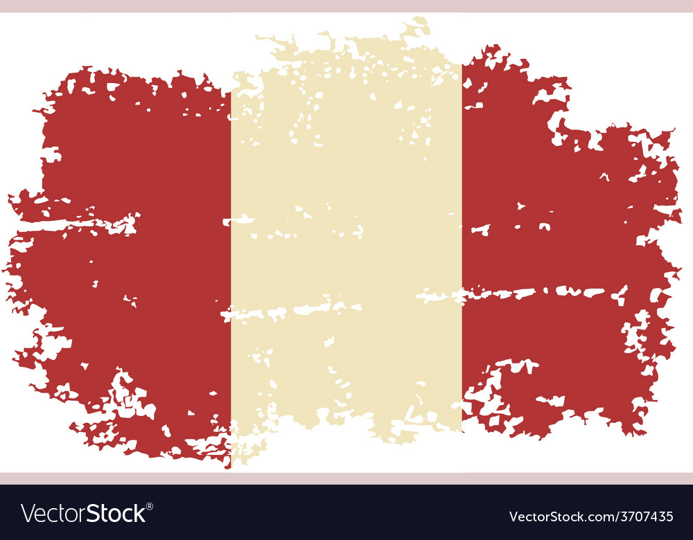 Peruvian grunge flag vector | Price: 1 Credit (USD $1)
