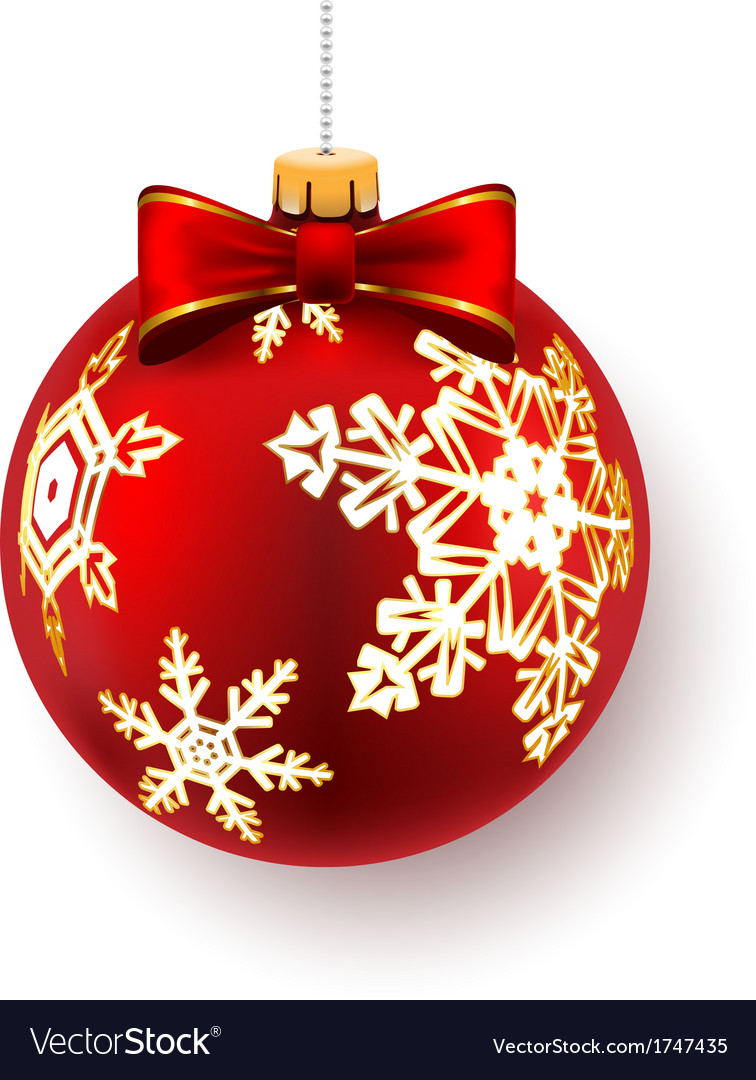 Red christmas ball vector | Price: 1 Credit (USD $1)