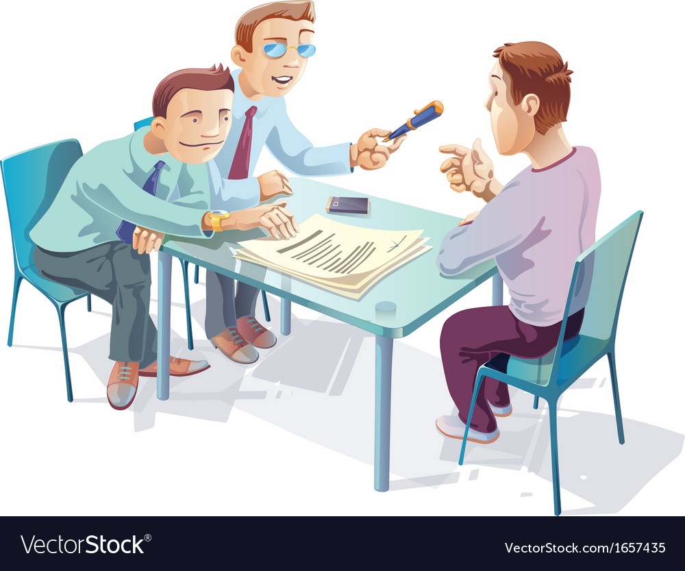 Signing the agreement vector | Price: 3 Credit (USD $3)