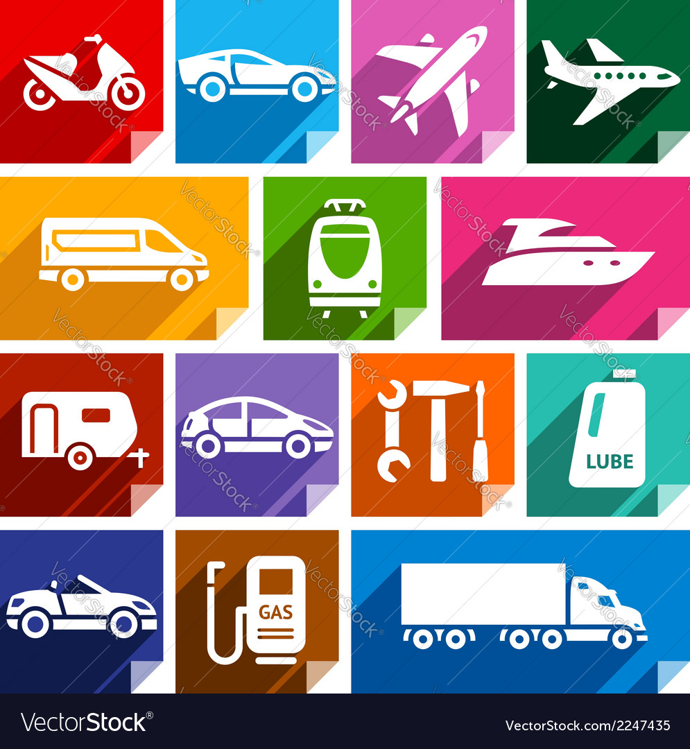 Transport flat icon bright color-09 vector | Price: 1 Credit (USD $1)