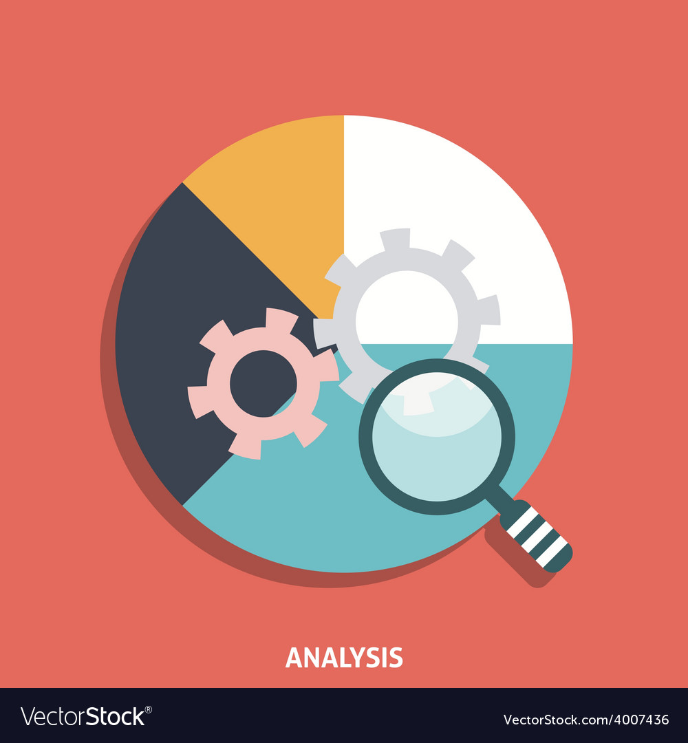Analysis icon flat vector | Price: 1 Credit (USD $1)