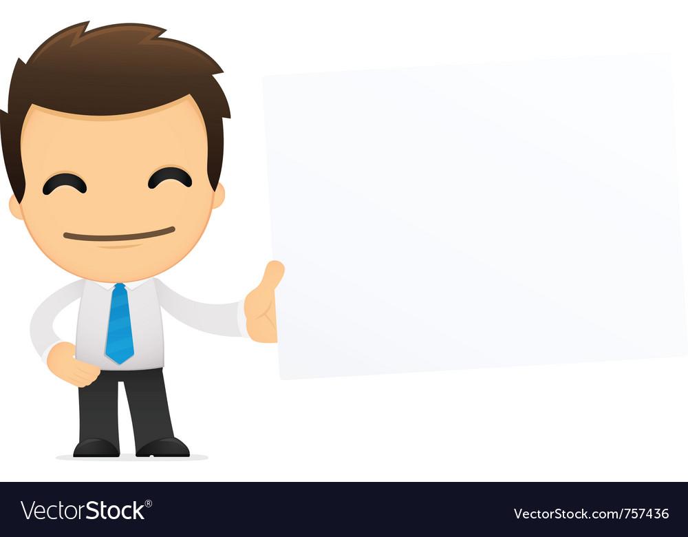 Cartoon office worker vector   Price: 1 Credit (USD $1)