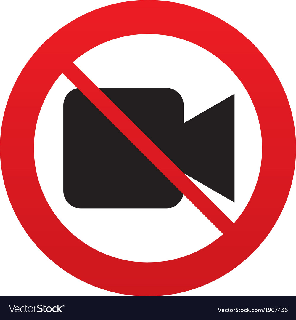 Dont shoot video video camera sign icon vector | Price: 1 Credit (USD $1)