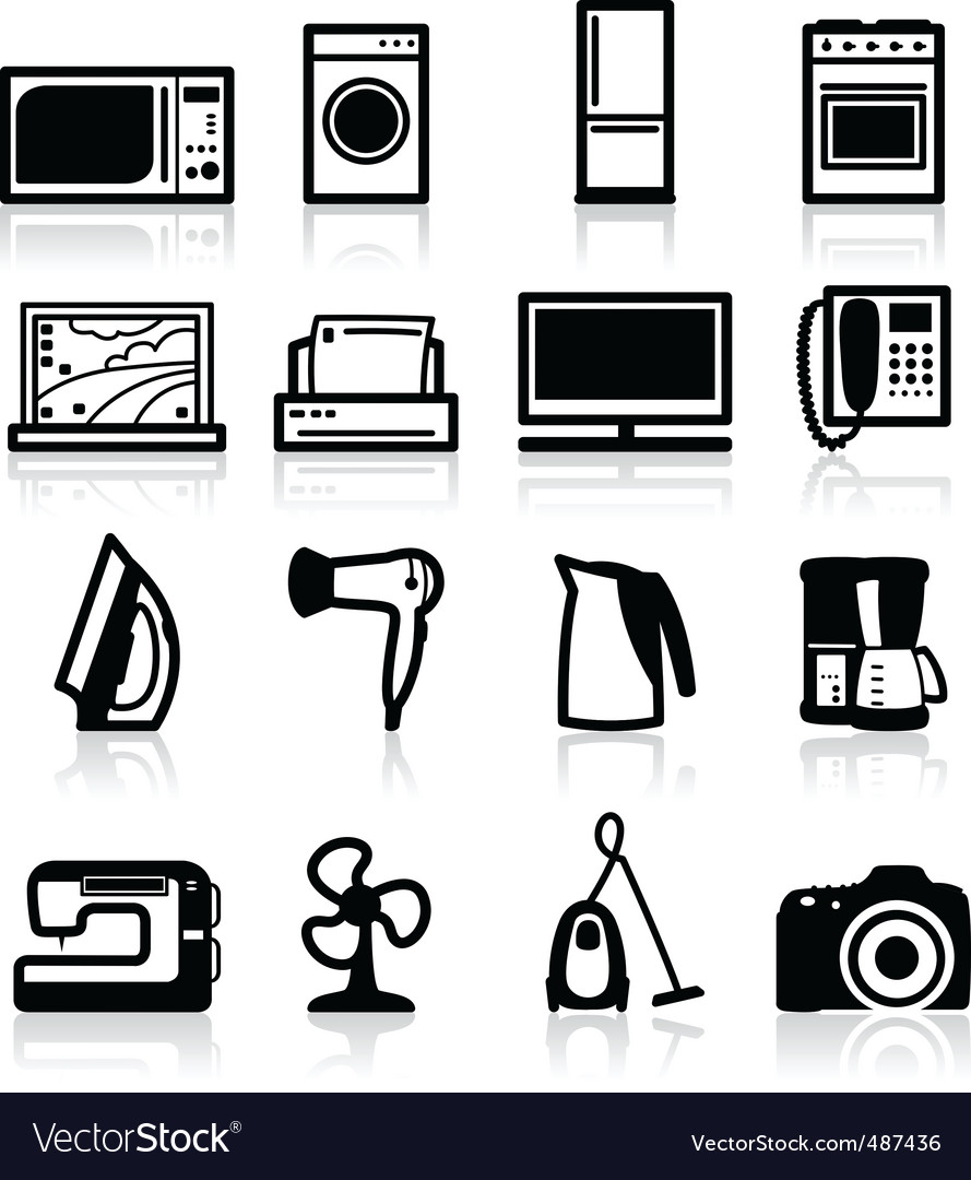 Electrical appliances vector | Price: 1 Credit (USD $1)
