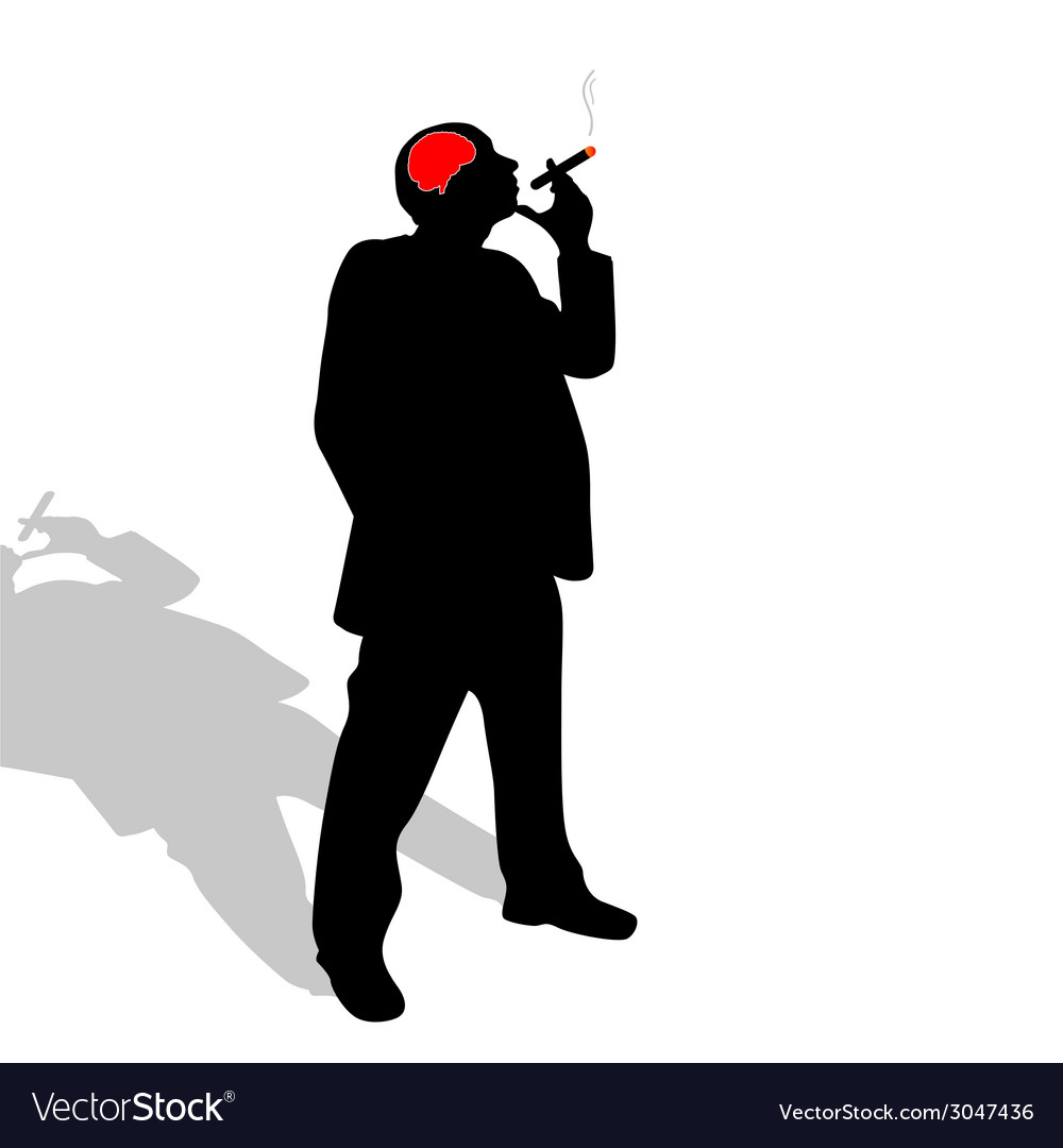 Man with a cigar vector | Price: 1 Credit (USD $1)