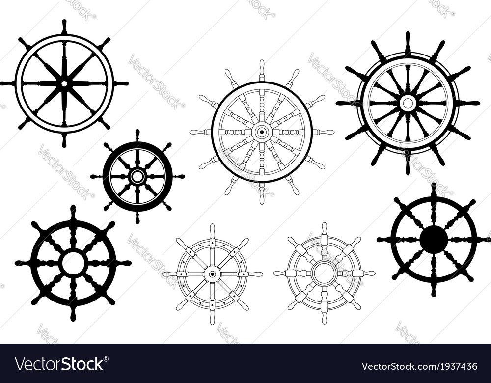 Nautical ships wheels vector | Price: 1 Credit (USD $1)