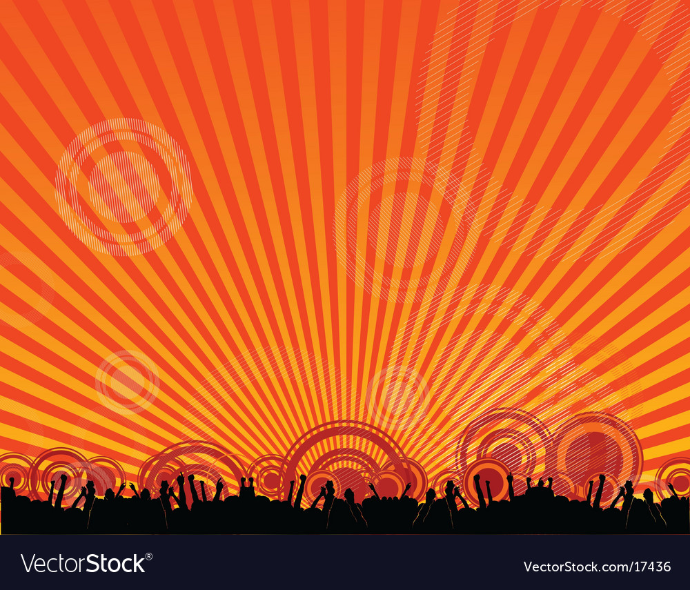 Rave crowd silhouette vector | Price: 1 Credit (USD $1)