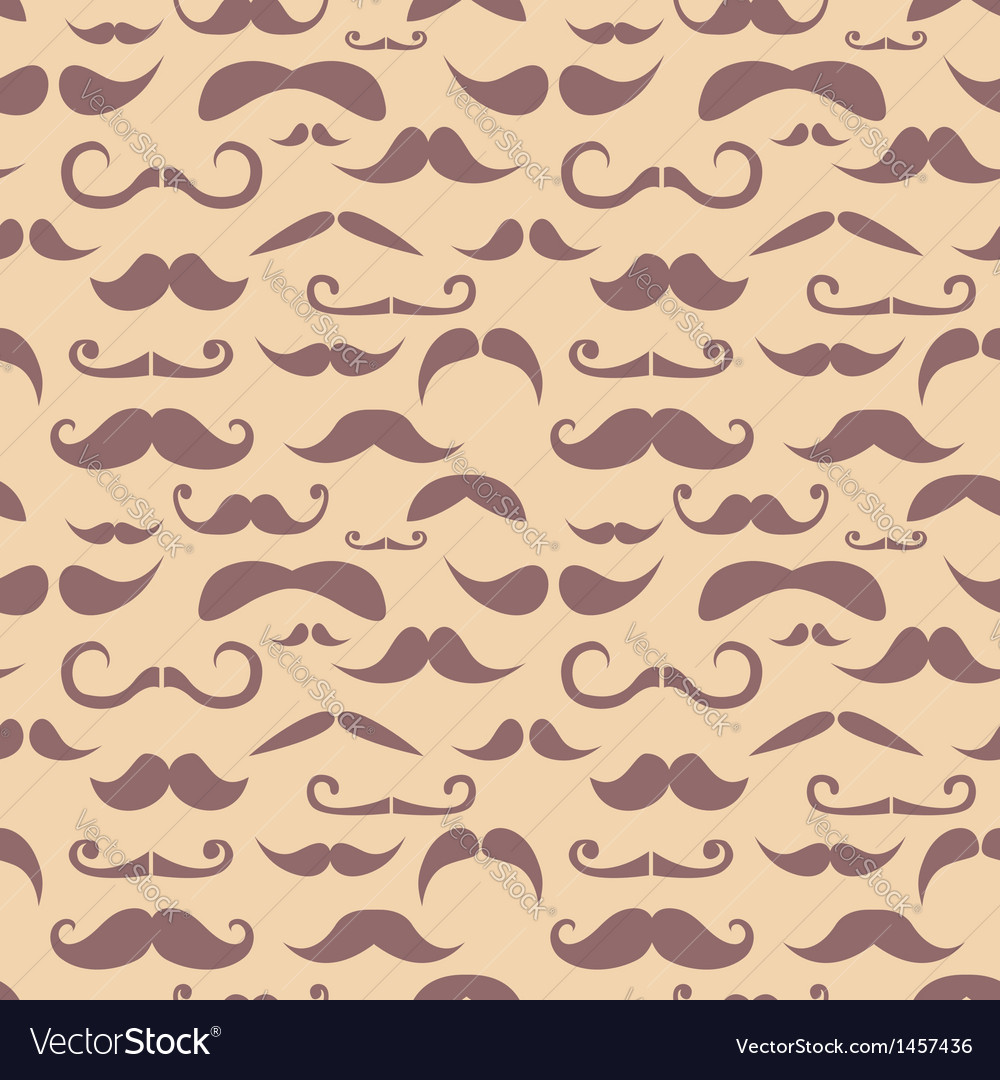 Retro hipster moustache seamless pattern vector | Price: 1 Credit (USD $1)