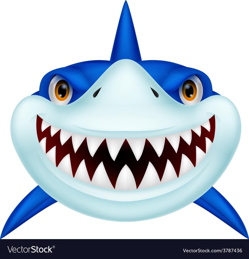 Shark head cartoon vector | Price: 1 Credit (USD $1)