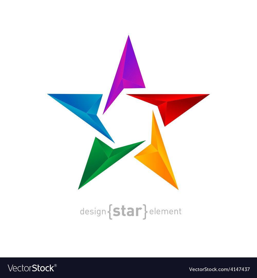 Abstract rainbow star three-dimensional graphics vector   Price: 1 Credit (USD $1)