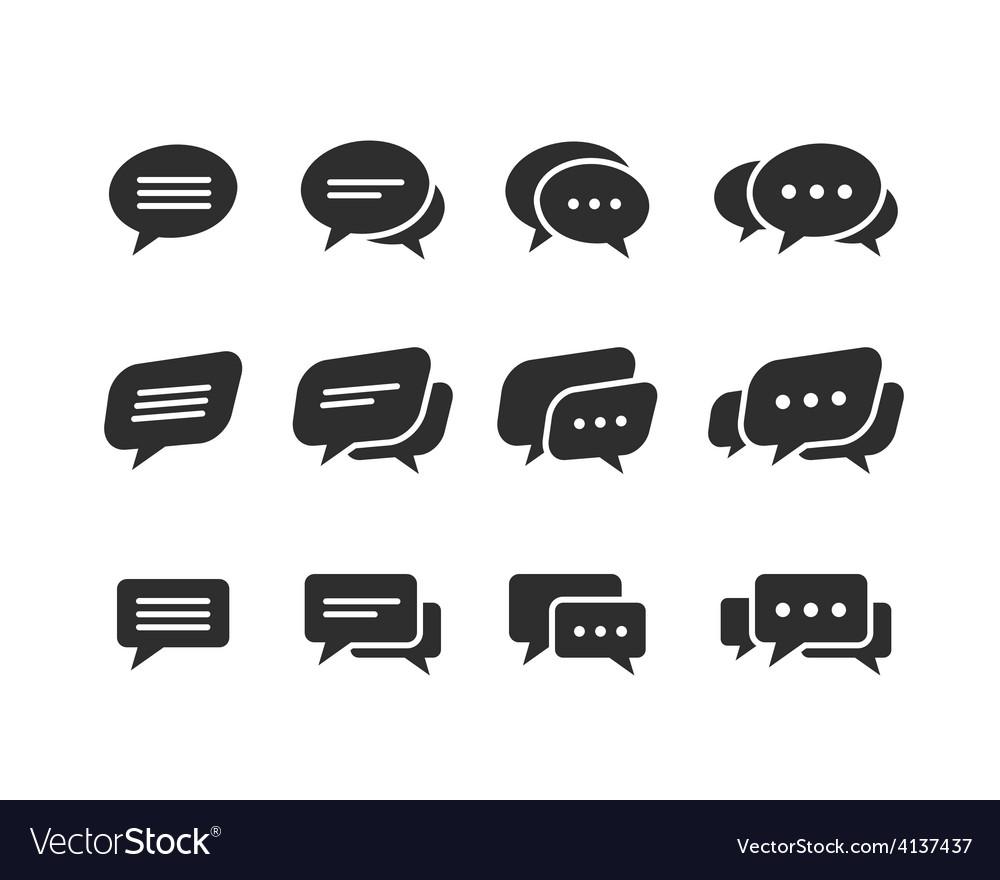 Black speech bubble icons vector | Price: 1 Credit (USD $1)