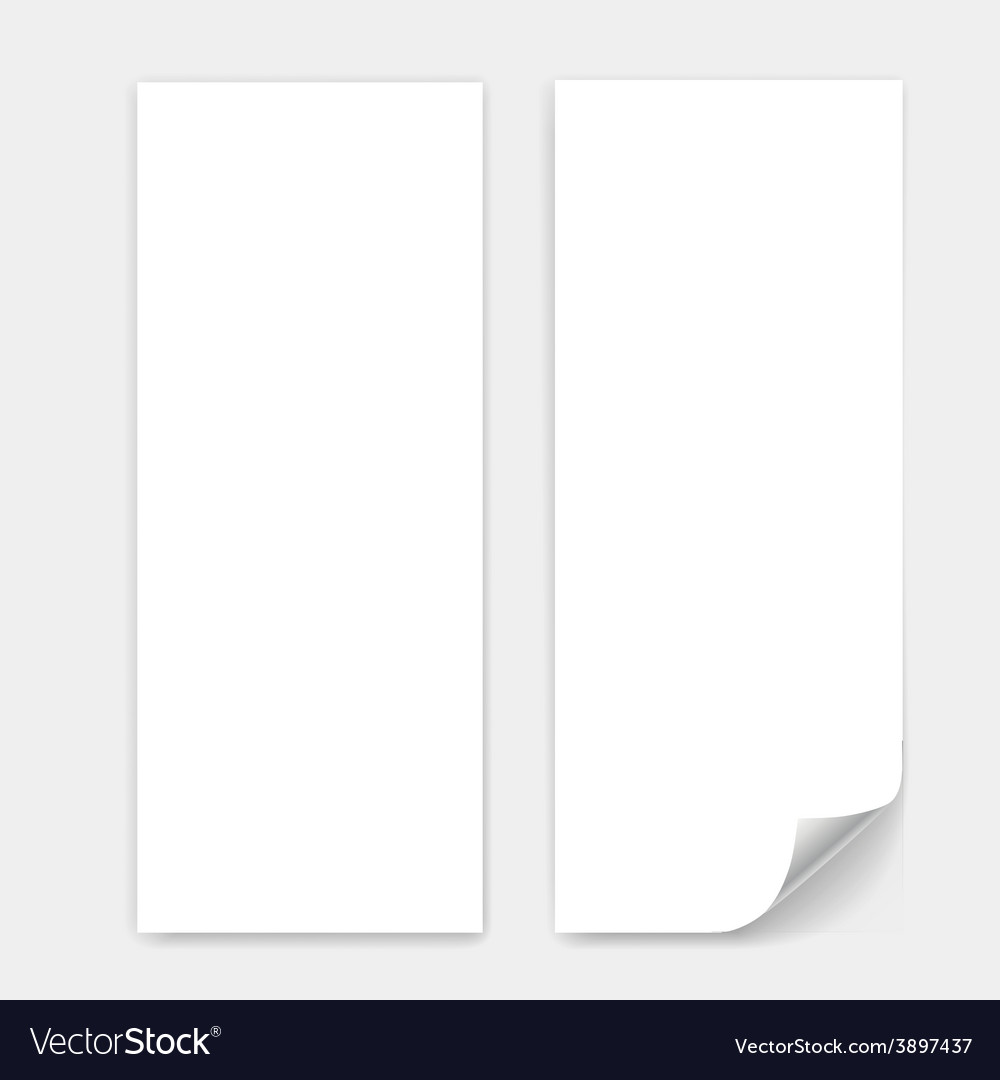 Blank trifold paper sheet vector | Price: 1 Credit (USD $1)