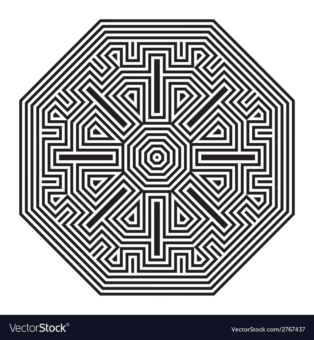 Celtic knot pattern card mandala amulet vector | Price: 1 Credit (USD $1)