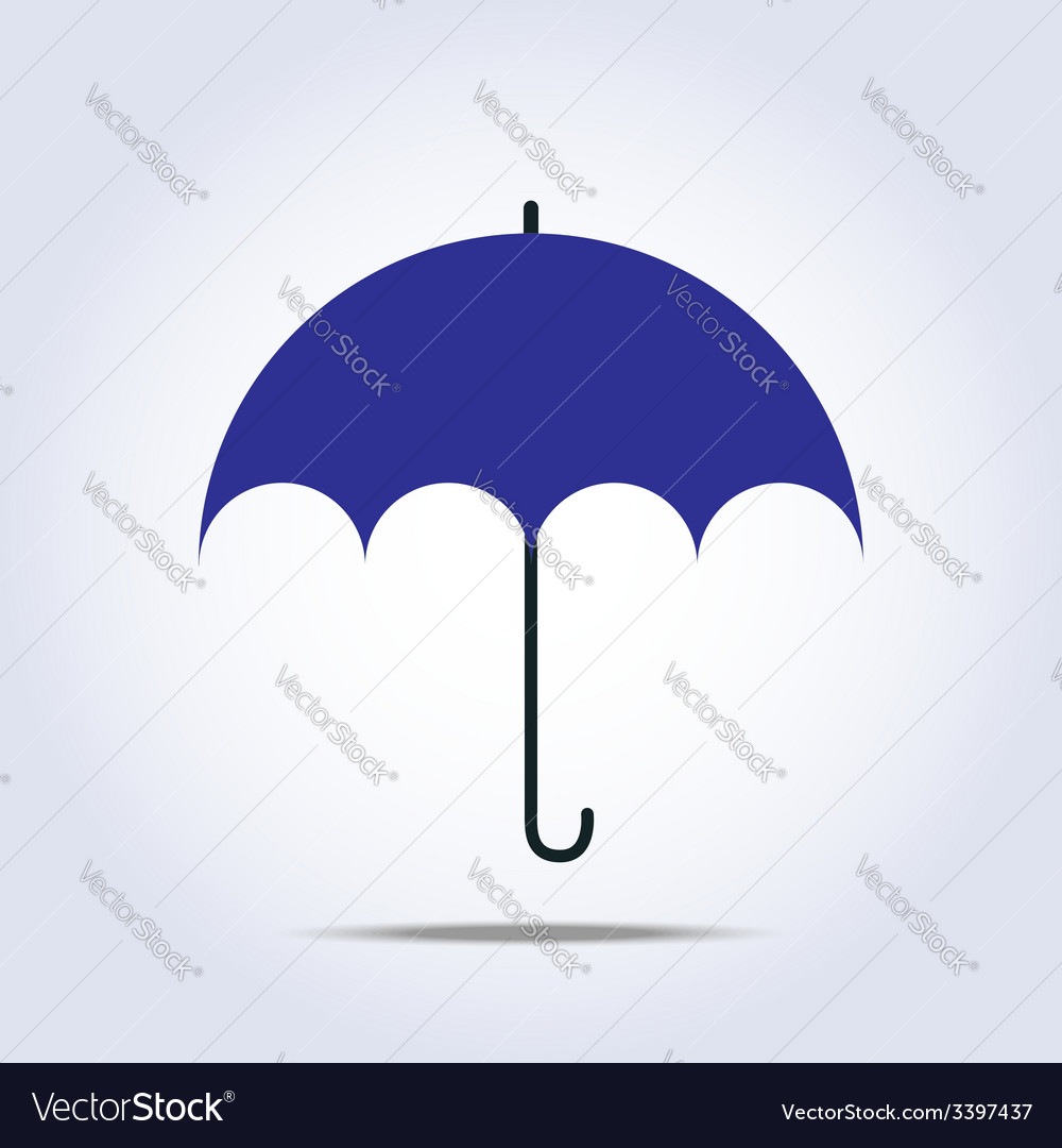 Dark blue umbrella simple icon vector | Price: 1 Credit (USD $1)