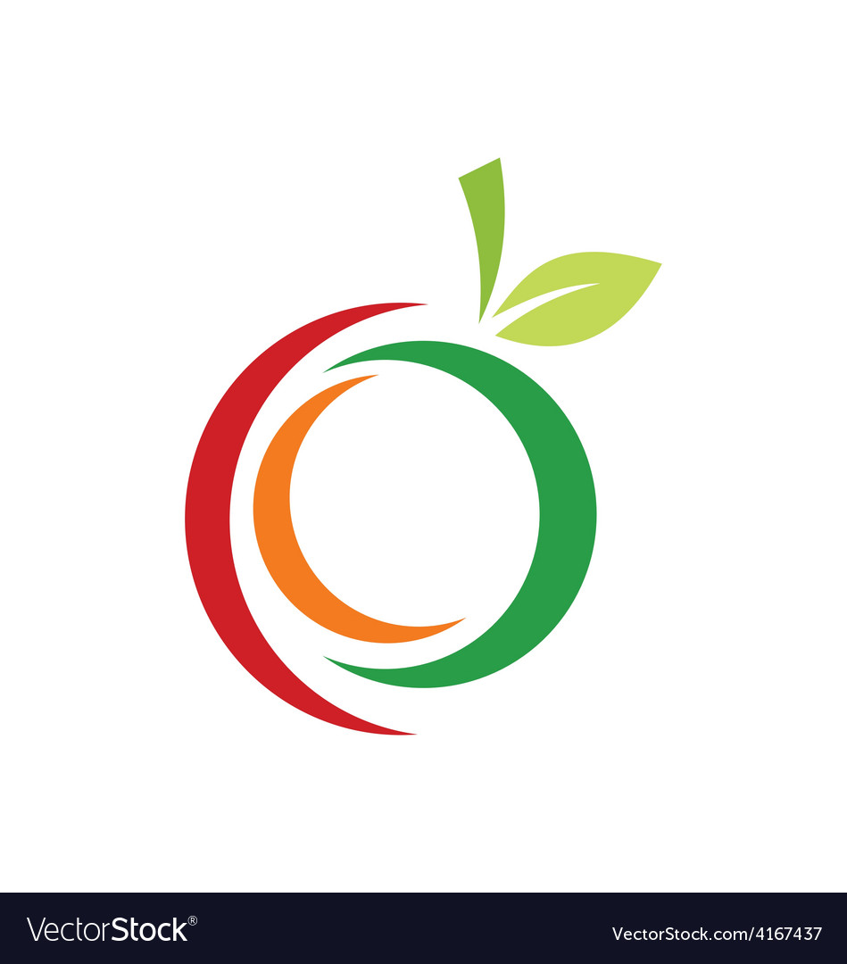 Fruit abstract logo vector | Price: 1 Credit (USD $1)