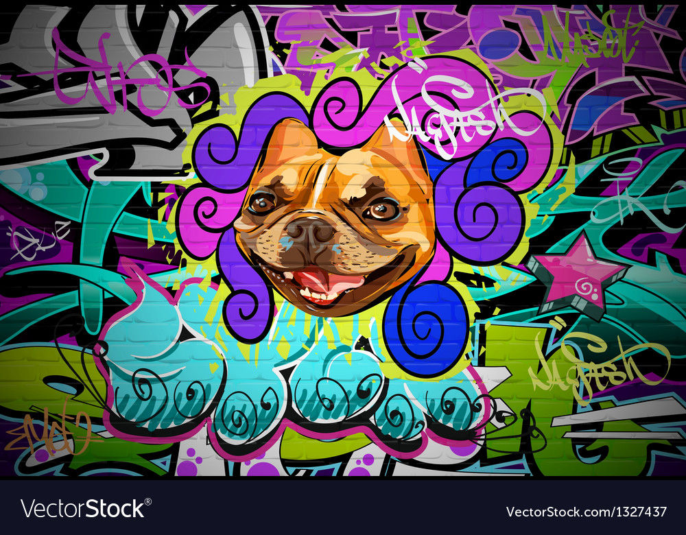 Graffiti wall urban art background vector | Price: 1 Credit (USD $1)