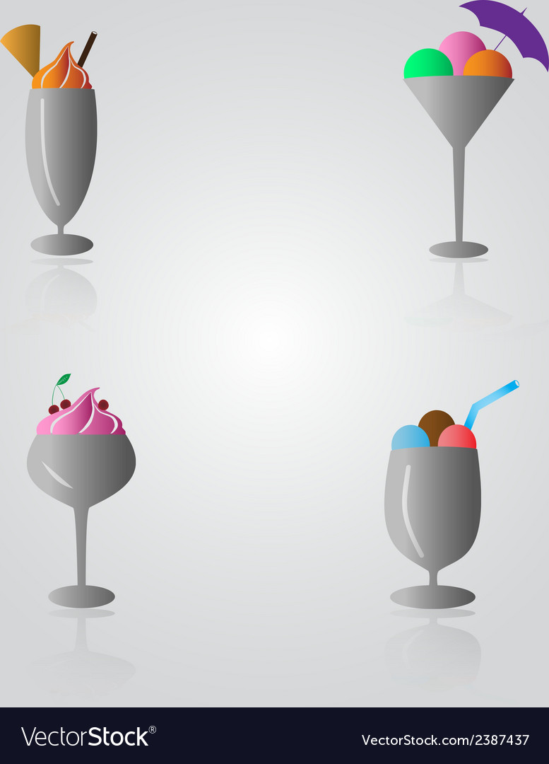 Ice cream sundae eps10 vector | Price: 1 Credit (USD $1)
