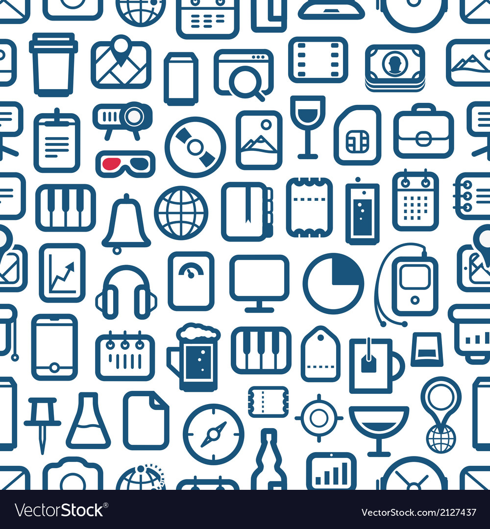 Interface icons seamless background vector | Price: 1 Credit (USD $1)