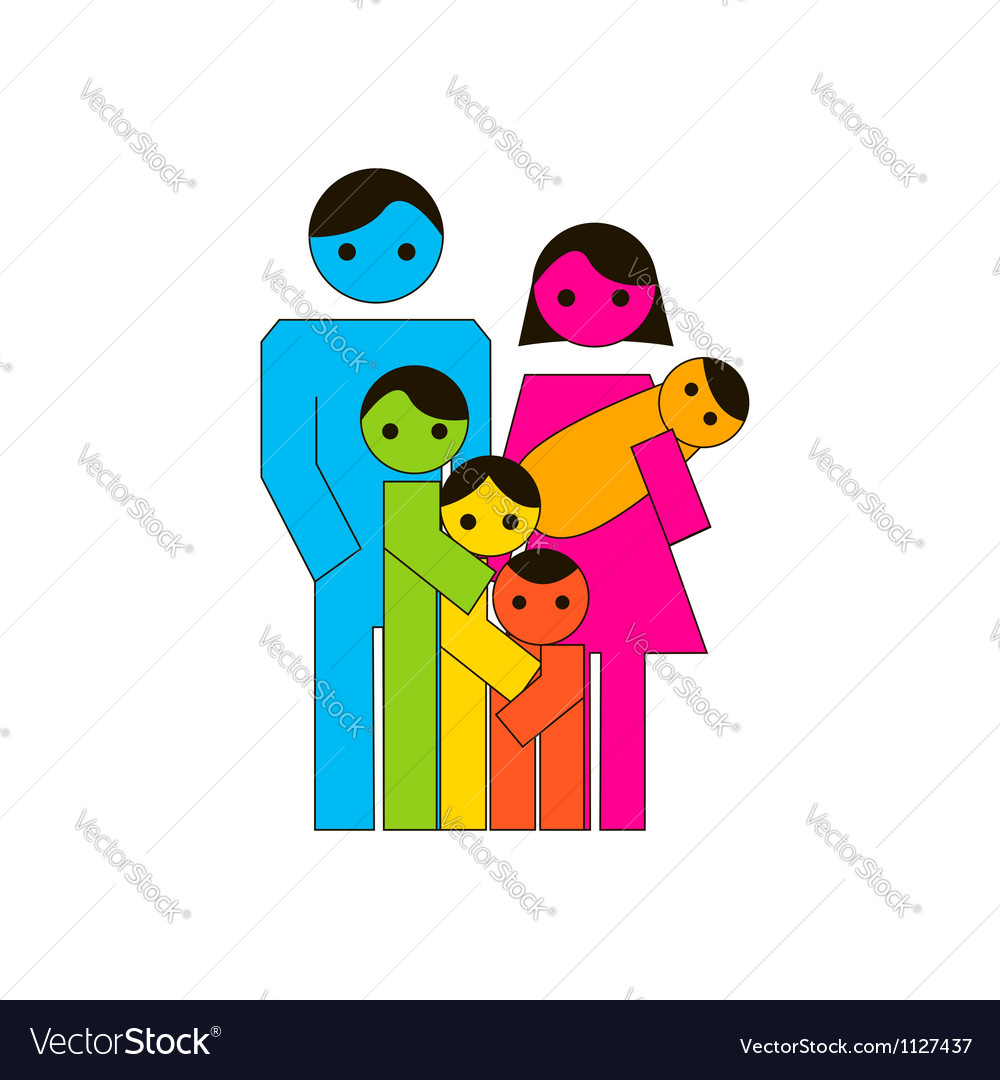 Large family icon vector | Price: 1 Credit (USD $1)