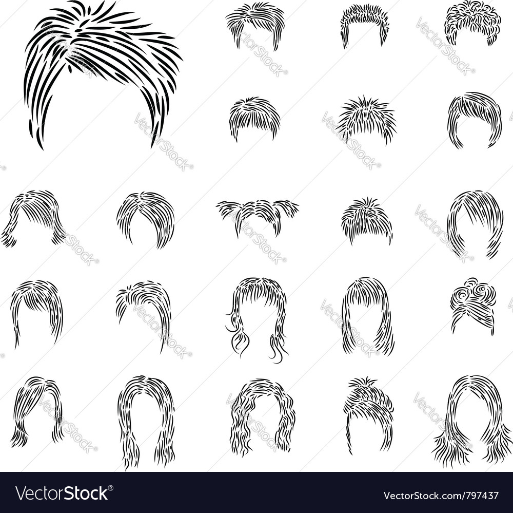 Man woman hairdress vector | Price: 1 Credit (USD $1)