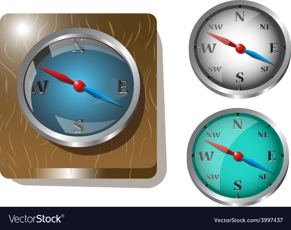 Set of clock icons vector