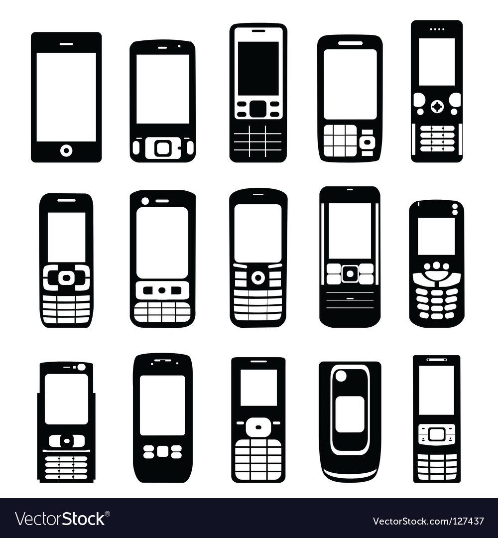 Set of mobile phone vector | Price: 1 Credit (USD $1)