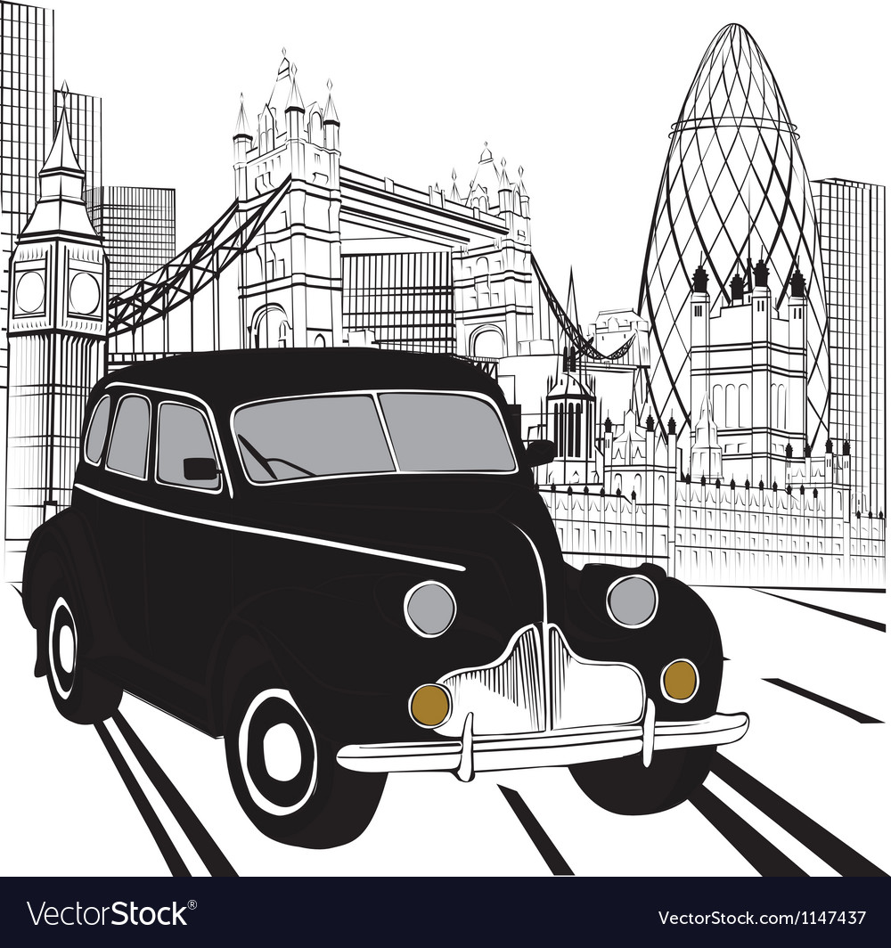 Sketch london taxi vector | Price: 1 Credit (USD $1)