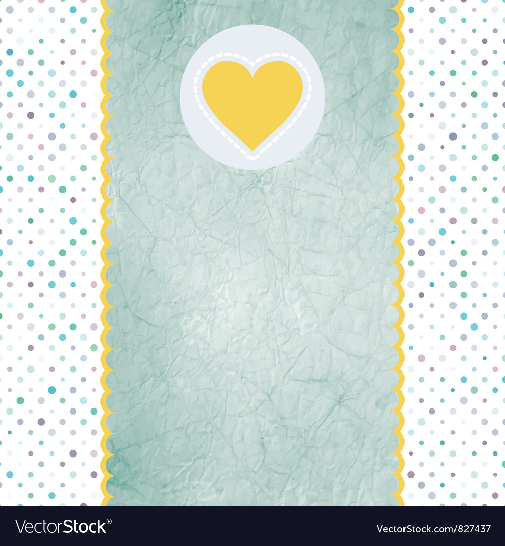 Valentine heart card vector | Price: 1 Credit (USD $1)