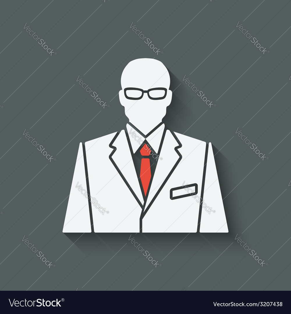 Businessman in suit and red tie avatar vector | Price: 1 Credit (USD $1)