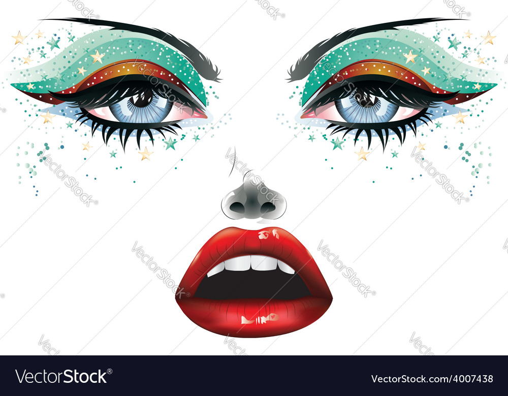 Carnival makeup2 vector | Price: 1 Credit (USD $1)